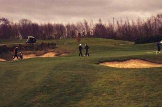Golf - Playoff Hole of Irish Colleges Match Play Championship - Maynooth University
