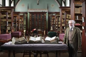 History - Ray Gillespie with Manuscripts - Maynooth University