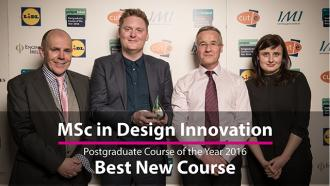 MSc in Design Innovation Best New Course Award 2016