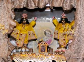 A Russian Hare Krishna household shrine