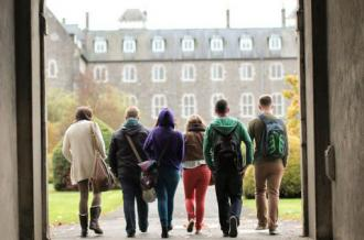 Student's Walking Through President's Arch - Maynooth University
