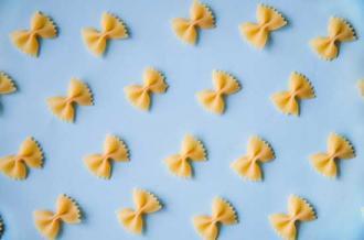 Farfalle pasta bows