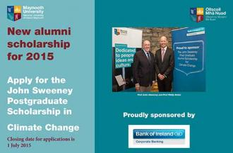 Alumni - Climate Change Scholarship poster - Maynooth University