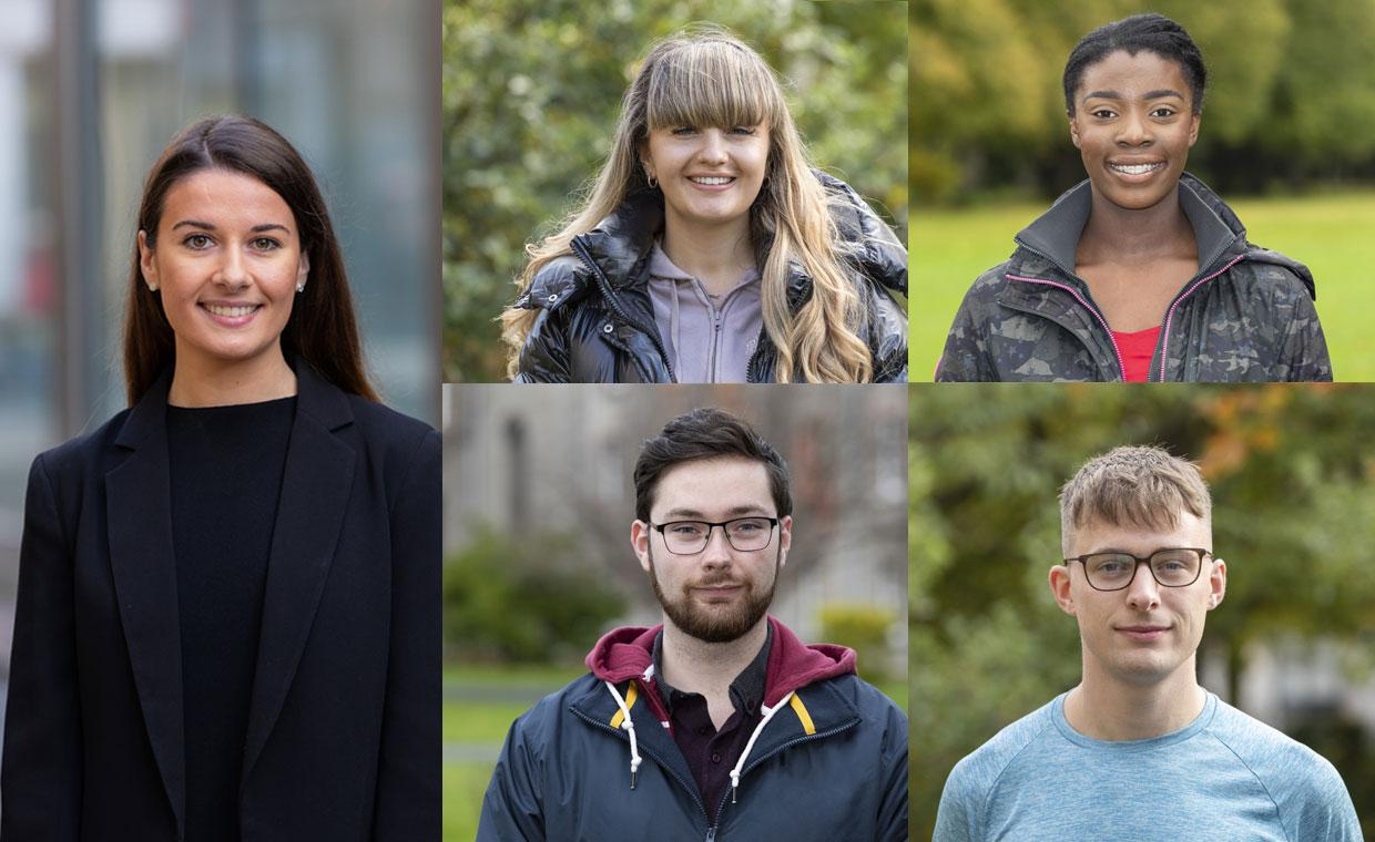 A montage of Maynooth University students
