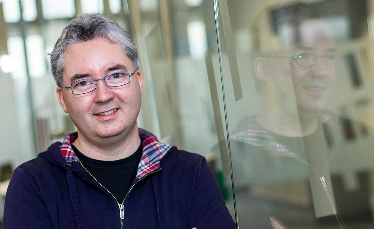 A picture of Damien Woods, from the Hamilton Institute at Maynooth University