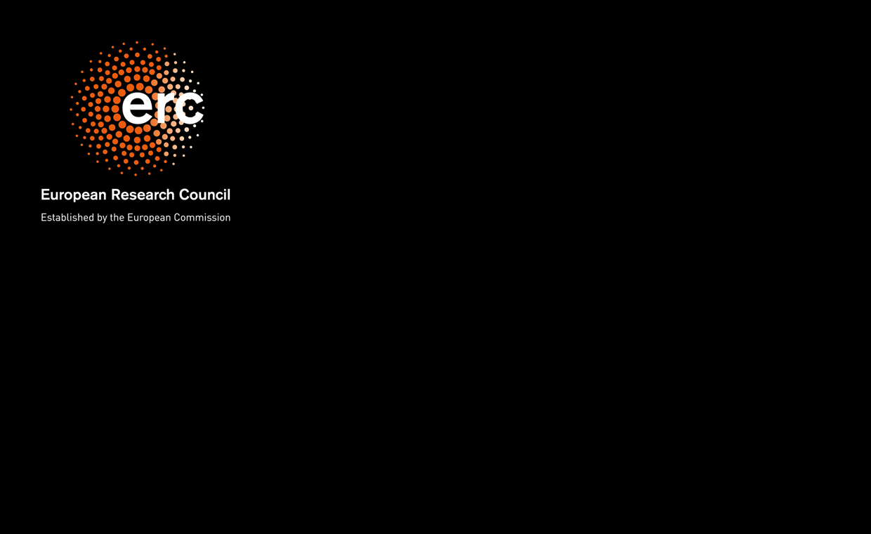 European Research Council logo on a black background