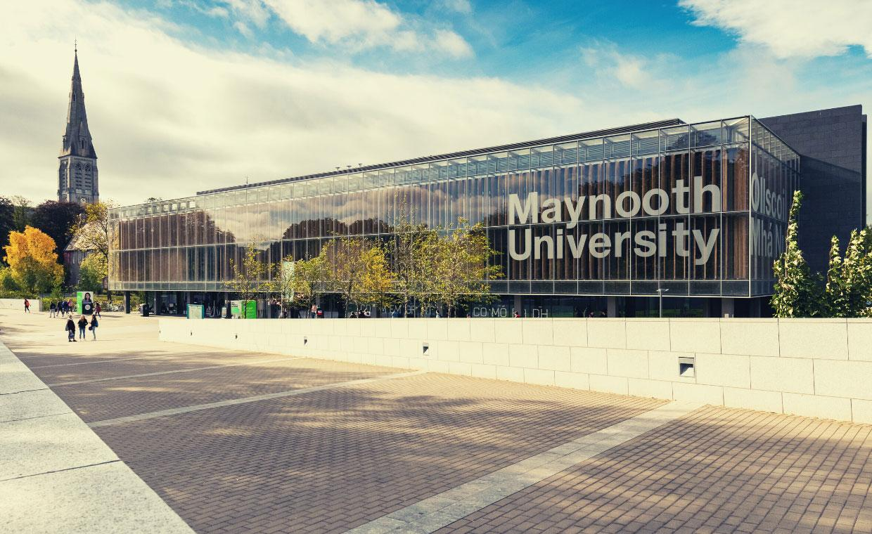 Maynooth University library seen from the Kilcock road
