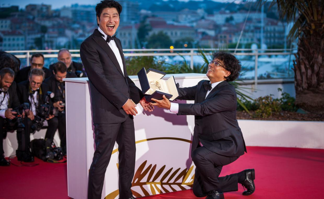 Oscar-winning director of film Parasite Bong Joon-ho and Kang-ho Song