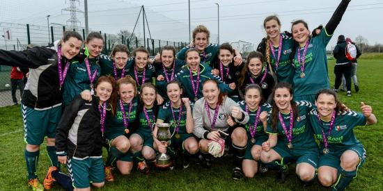 Soccer - Winning Ladies Team 2015 - Maynooth University