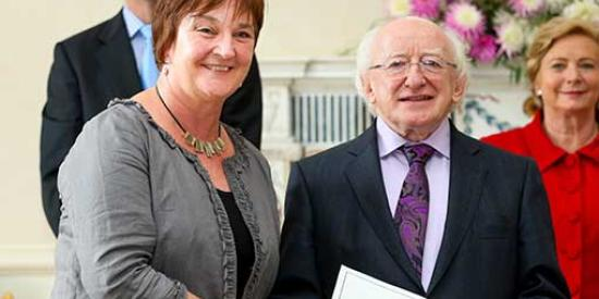 Sociology - Dr Mary Murphy and President of Ireland Michael D Higgins - Maynooth University