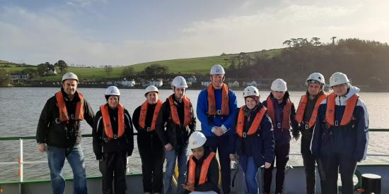 MScGIS &Remote Sensing students marine mapping in Cork Harbour