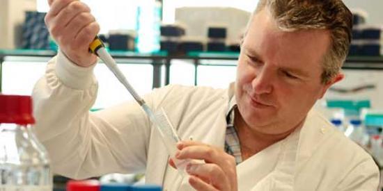 Biology - Paul Moynagh in lab - Maynooth University