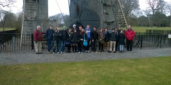 Students at Birr Telescope