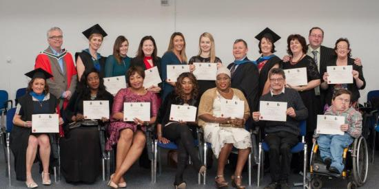 Cert. in Disability Studies Donegal-Dublin CIL students graduating in Maynooth University