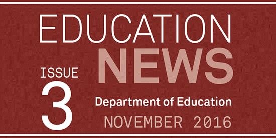Education News: Department of Education Newsletter, Issue 3