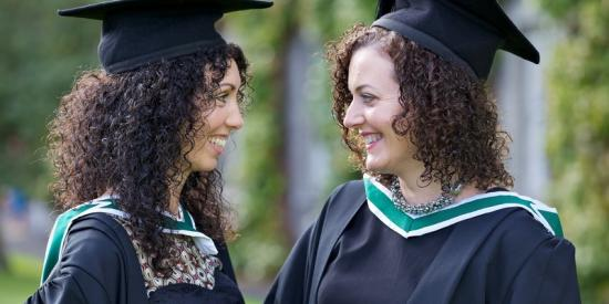 Graduation 2012 - Female friends chattting  - Maynooth University