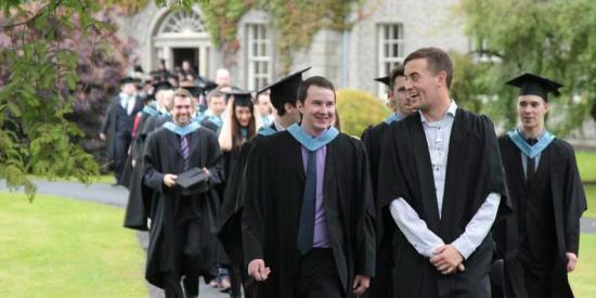 Graduation Procession - Students Walking out Facing the Camera - Maynooth University