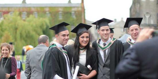 Graduation at St Joe Square - Graduates take Photos - Maynooth University