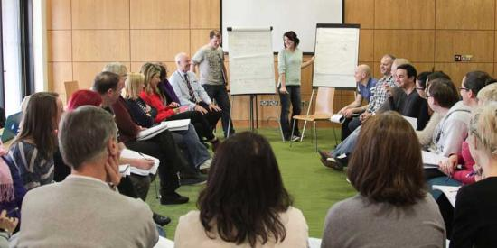 Adult & Community Education - Group at flip charts - Maynooth University