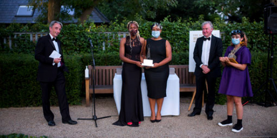 The winners of the Irish Times debate receive their awards