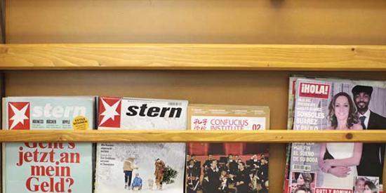 Language Centre - Magazines on Shelf - Maynooth University