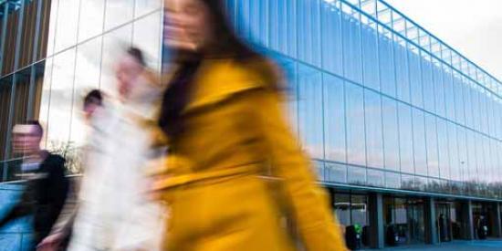 Communications & Marketing - Blurred library - Maynooth University