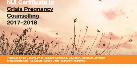 NUI Certificate in Crisis Pregnancy Counselling 2017 -2018