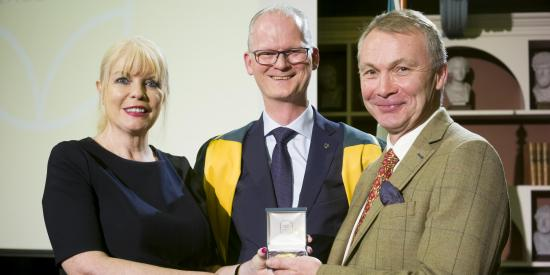 Photo Mac MacLachlan receiving RIA Medal