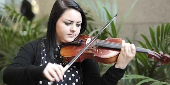 Music - Girl on Violin - Maynooth University