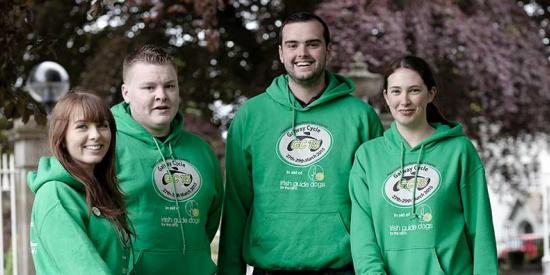 Student Services - Galway Cycle students in green jerseys - Maynooth University