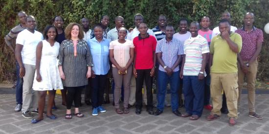 Lecturer Niamh Rooney in Nairobi