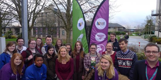 Students and the MAP Launchpad Flag