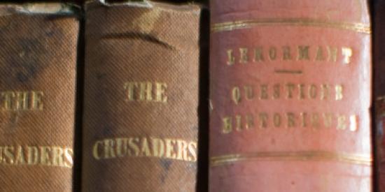 Old books on shelf - Maynooth University