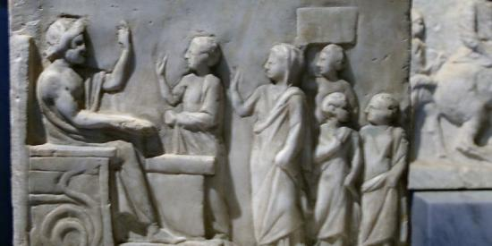 Ancient Classics - Sarcophagus scene 1, Kunsthistorisches Museum, Vienna - Maynooth University