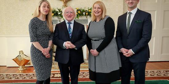 President Higgens, Dr Joanna Masterson, Dr Eoin McNamee