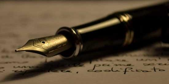 Communications and Marketing - writing fountain pen - Maynooth University