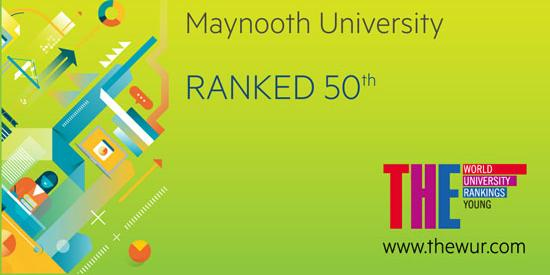 Text saying Maynooth University ranked 50th