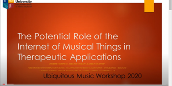The potential role of the Internet of Musical Things in Therapeutic Applications