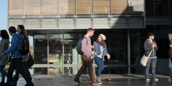 North Campus - Students Walking by Iontas Building - Maynooth University