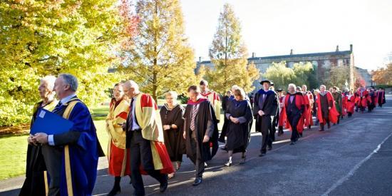 graduation - staff procession - Maynooth University