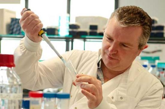 Biology - Paul Moynagh in lab - Maynooth University