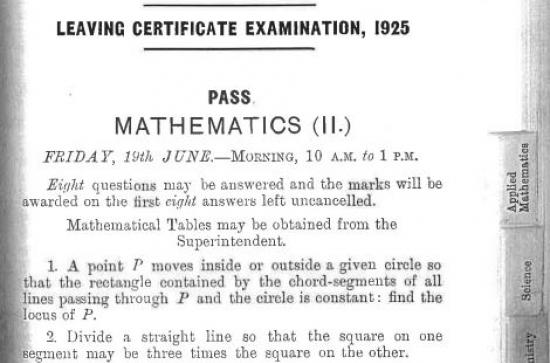 92 years of the Leaving Cert – Was Science more difficult in