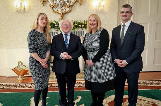 President Higgens, Dr Joanna Masterson, Dr Eoin McNamee