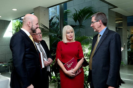 Minister Mary Mitchell O'Connor, Professor Nolan and Professor Mulkeen