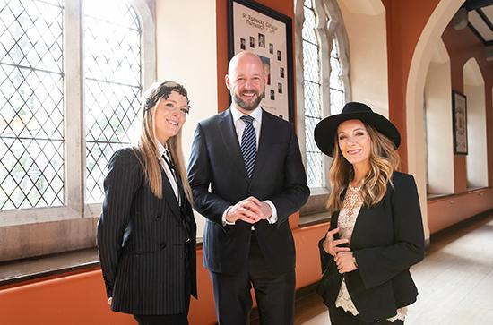 Hattie and Charlotte Web with Professor Philip Nolan